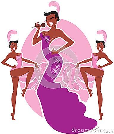 Free Cabaret Singer Royalty Free Stock Image - 19394136