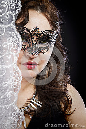 Hiding bride, Wedding decoration, Fine-art portrait of elegant g