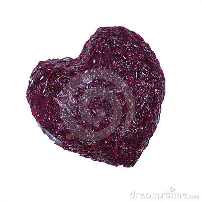 Cabbage red a delicacy heart