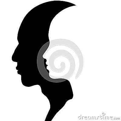 Cabeça masculina & fêmea