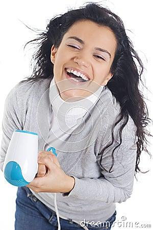 Cabelo de secagem