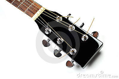 Cabezal de la guitarra acústica