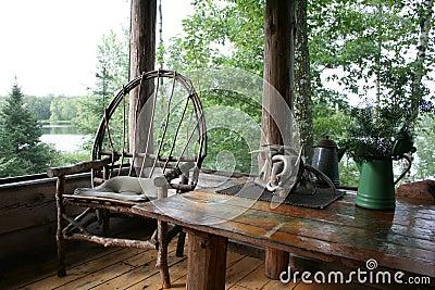 Cabin Porch Serenity Stock Photo Image 51241290