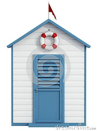 Cabina della spiaggia illustrazione di stock immagine for Affitti della cabina di whistler