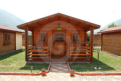 Cabine da recreação do acampamento