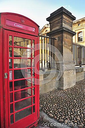 Cabine téléphonique de pièce de monnaie, Oxford