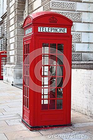 cabine t l phonique rouge londres images stock image 13708394. Black Bedroom Furniture Sets. Home Design Ideas