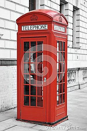 cabine t l phonique rouge londres angleterre photos libres de droits image 12660508. Black Bedroom Furniture Sets. Home Design Ideas