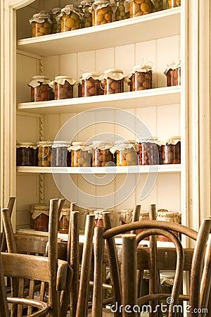 Cabinet in restaurant