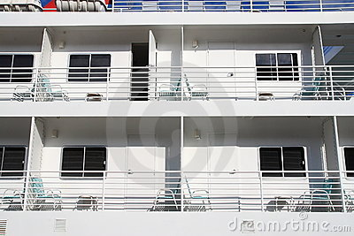 Cabins on cruise ships