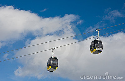 Cabins of ski lift