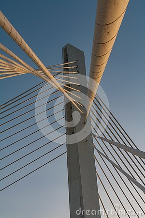 Free Cable Bridge Construction In Podgorica Royalty Free Stock Images - 129886569