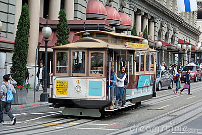 Cable Car Editorial Photo