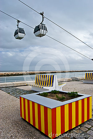 Cable car above the Tejo