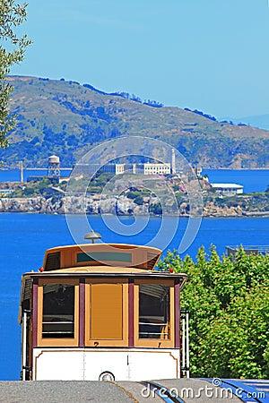 Cable Car & Alcatraz Island in San Francisco