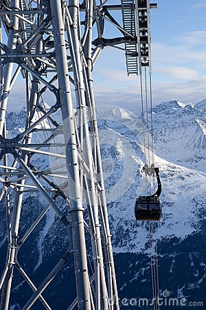 Cable-car in alps
