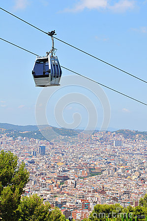 Cable car in Barcelona, Spain