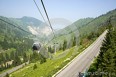 Cable car and car-way