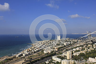 Cable Car at Haifa Editorial Stock Photo