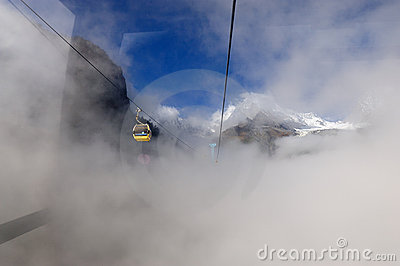 Cable Car in Hailuogo Editorial Stock Image
