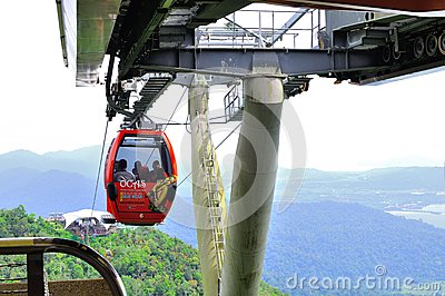 Cable Car in Langkawi Island Editorial Stock Photo