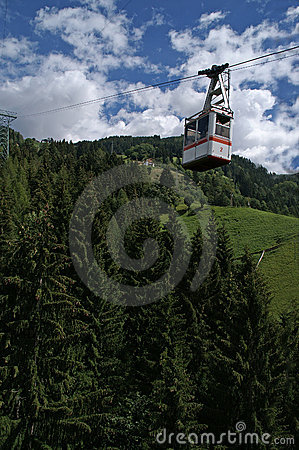 Cable car over forest