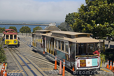 Cable car in San Francisco Editorial Stock Image