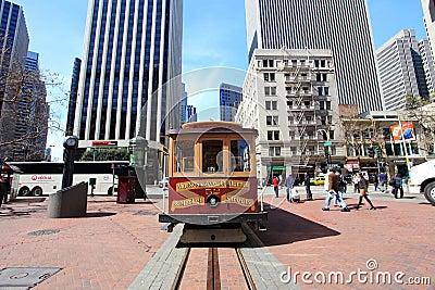 Cable car,San Francisco Editorial Photo