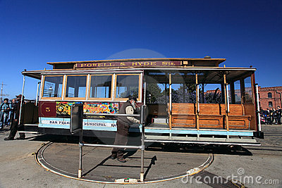Cable car,San Francisco Editorial Stock Photo