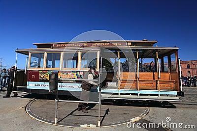 Cable car,San Francisco Editorial Stock Photo