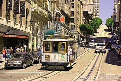 Cable Car in San Francisco Editorial Stock Photo