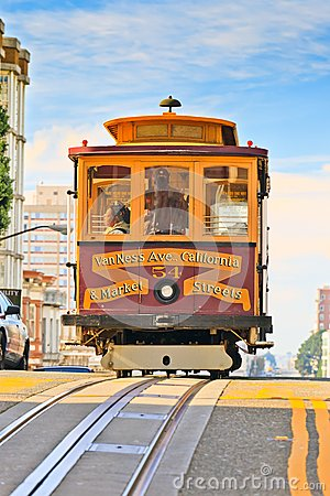 Cable car in San Francisco Editorial Photo