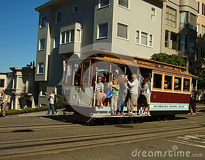 Cable Car in San Fransisco Editorial Photography