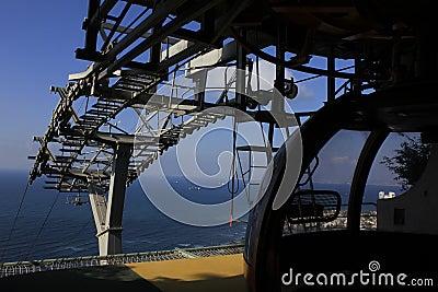 Cable Car Station at Haifa Editorial Photo