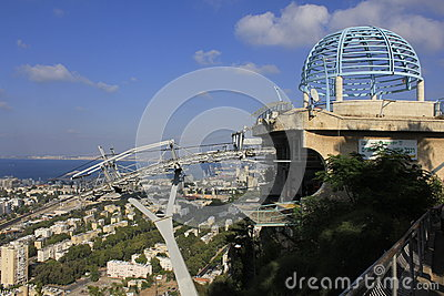 Cable Car Station at Haifa Editorial Photo