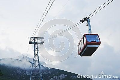 Cable car in Tahtali, Antalya, Turkey