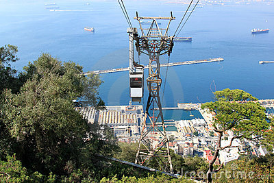 Cable car to Apes Den, Gibraltar, United Kingdom