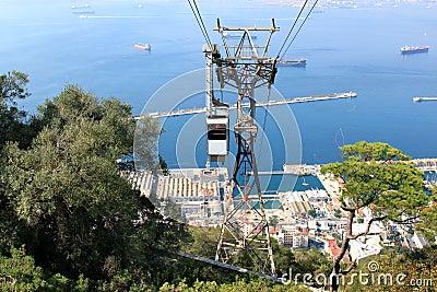 Cable car to Apes Den, Gibraltar, United Kingdom