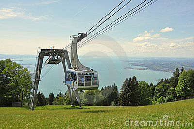 Cable car at top station of the Pfänder