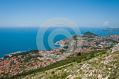 Cable car in Unesco Heritage Dubrovnik