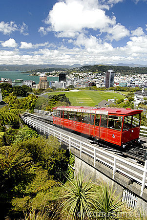 Free Cable Car - Wellington, New Zealand Stock Photo - 5106890