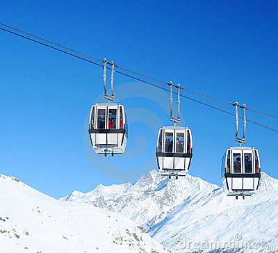 Free Cable Cars   Royalty Free Stock Photography - 8770097