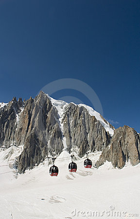 Free Cable Cars - Chamonix, France Stock Images - 4170734