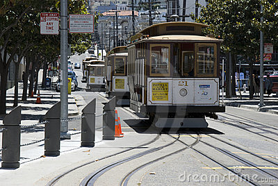 Cable Cars in San Francisco Editorial Image
