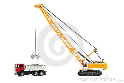 Cable excavator and heavy truck