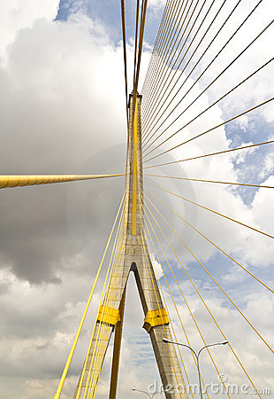 Cable huge bridge