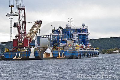 Cable-laying vessel.