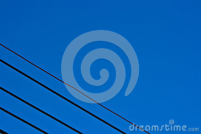 Cable line in sky