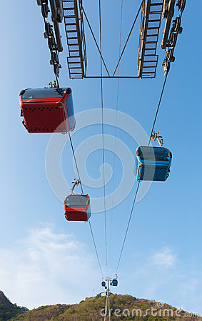 Free Cable Railway In Vung Tau, Vietnam Stock Images - 54262664