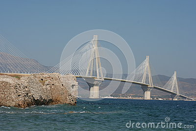 Cable stayed bridge,  Greece